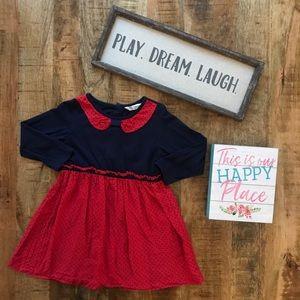 Red & Navy Stars Dress